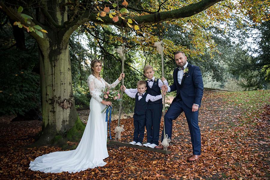 An Autumn wedding day near Bedford