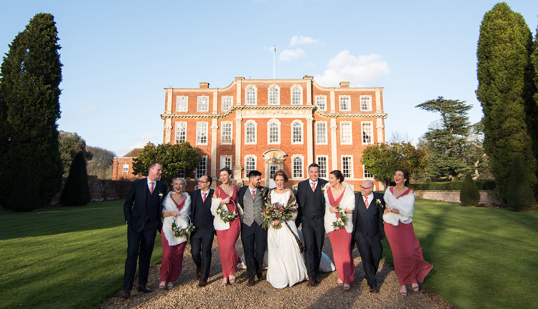 Photographer based in Bedford photographing a wedding at Chicheley Hall