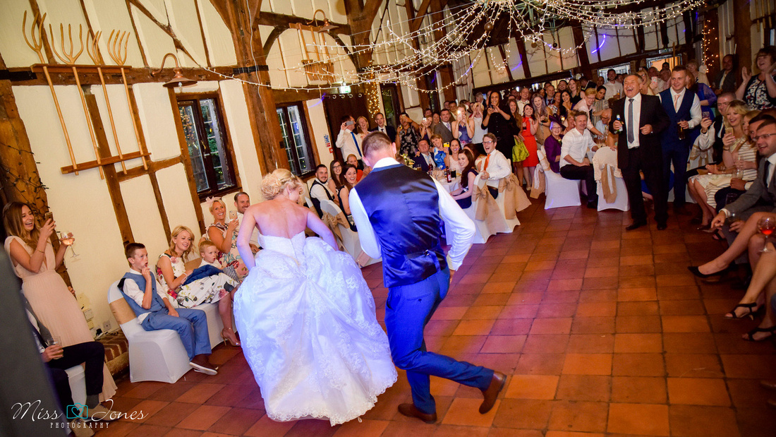 Barns Hotel wedding day first dance captured by the wedding photographer from Bedford
