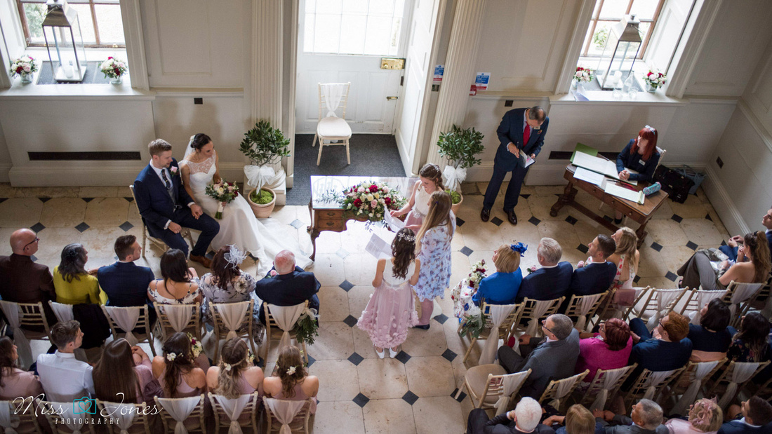Chicheley Hall wedding ceremony