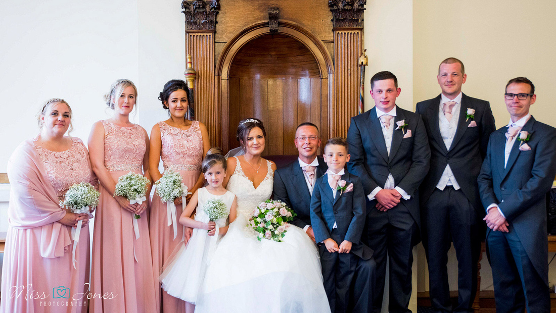 Bridal partt inside Bedford Old Town Hall